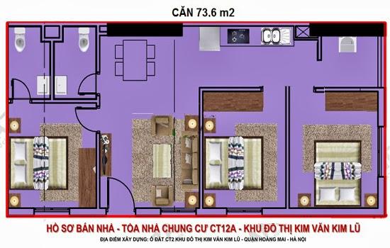 mặt bằng căn hộ chung cư kim lũ ct12
