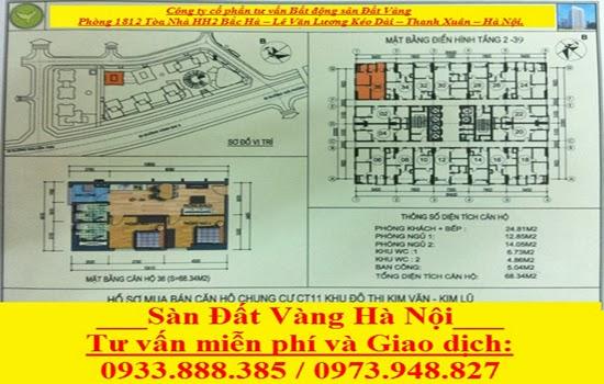 mặt bằng căn hộ Kim Văn Kim Lũ CT11